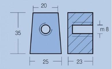 Анод MARINER-YAMAHA - Cube with Hole