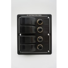 Електропанел водоустойчив 12V, с 4 ключа (код: 01358-4)