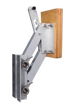 Транцева стойка за спомагателен двигател, алуминиева
