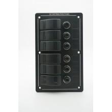 Електропанел водоустойчив 12V, с 6 ключа (код: 01358-6)