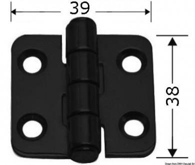 Панта inox 38x39мм черна