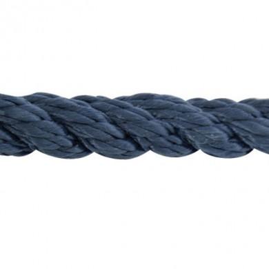 Въже сукано 3-жилно полиестер синьо ф10-24мм