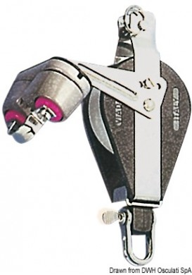 Блок единичен шарнир с пръстен и стопор