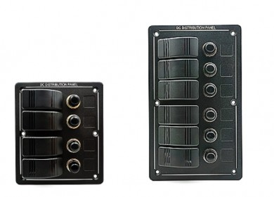 Waterproof switch panel 12V 4/6 switches
