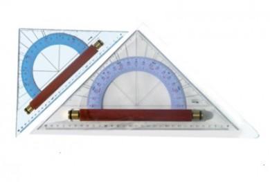 Триъгълник паралелен с транспортир 330мм