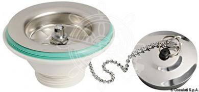 Отводнителен сифон за мивка прав