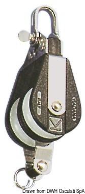 Блок двоен шарнир с пръстен