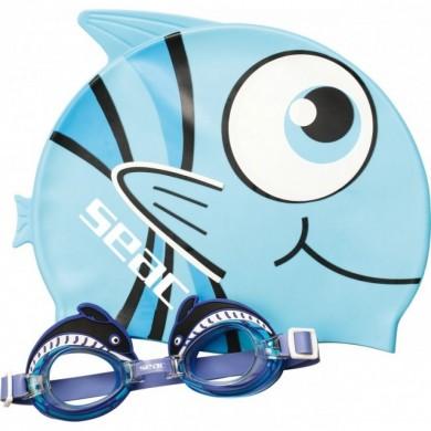 Детски комплект FLIPPER очила и шапка Seac sub