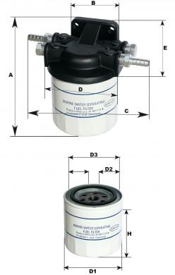 Филтър сепаратор Mercury Optimax 75-125HP