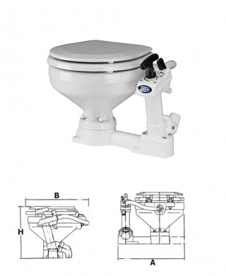 Тоалетна JABSCO САЩ компактна 34x45x41cм