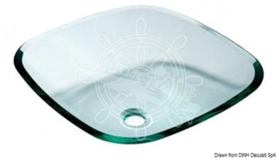 Мивка квадратна стъклена