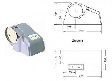 Хоризонтален котвен шпил 12V 300/600/1100W Тайван