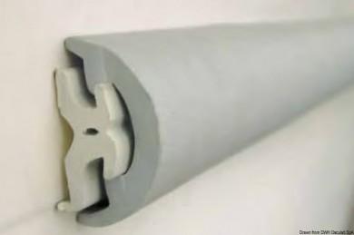 Буртик PVC овален бял / черен