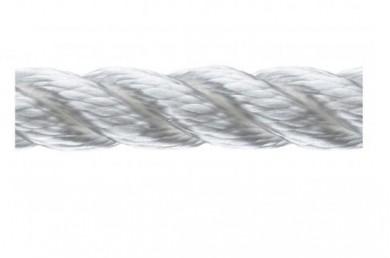 Въже сукано 3-жилно полиестер бяло ф6-28мм