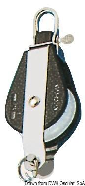 Блок единичен шарнир с пръстен