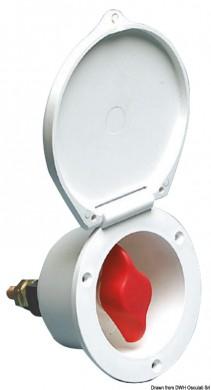 Ключ маса за акумулатор за вграждане 105мм бяла/черна