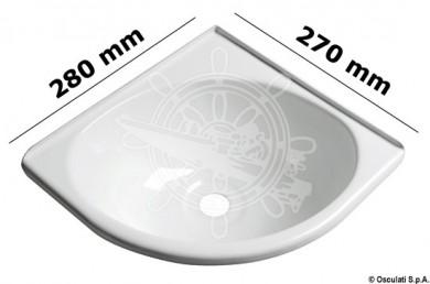 Мивка ъглова ABS 280x270x102mm