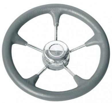 Steering wheel stainless steel D320/350mm grey