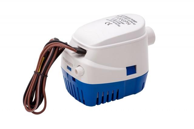 Помпа осушителна за лодка автоматична сензорна 12/24V 600-1100GPH