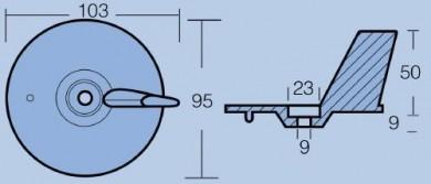 Анод за двигатели 25-40-50HP