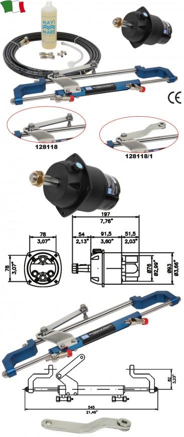 Хидравлична система за извънбордов двигател до 80к.с.