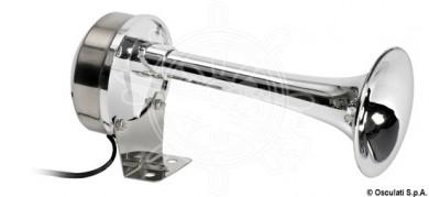 Сирена без подпора единична 12V inox/хромиран ABS