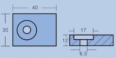 Анод SUZUKI 65-115HP