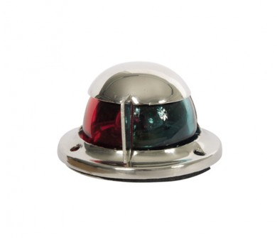 Светлина биколорна хоризонтална LED 12V inox