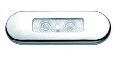 Лампа таванна 2xLED 85х30мм inox