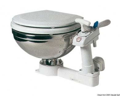 Тоалетна ръчна неръждаема Италия, компактен модел 34х45х42.5 см