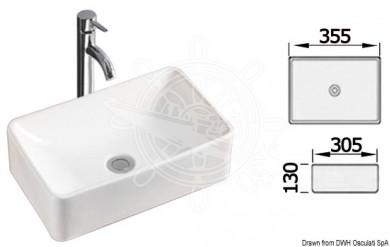 Мивка керамична правоъгълна