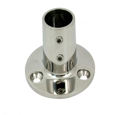 Основа за релинг кръгла 90° f22-25mm inox