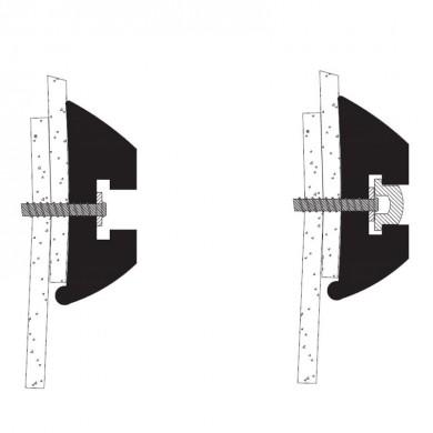 ПВЦ буртик за лодка с основа комплект 40/50/60/80мм