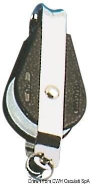 Блок единичен неподвижно ухо с пръстен