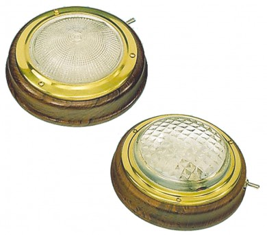 Лампа таванна месинг/тик 12V