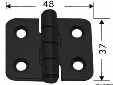 Панта inox 48x37мм черна