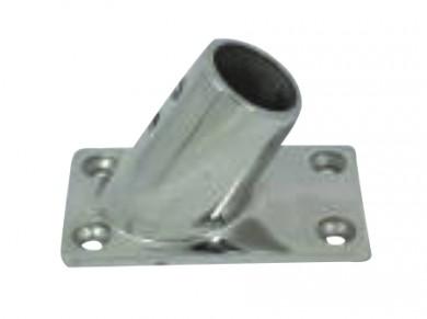 Основа за релинг правоъгълна 60° f22-25mm inox