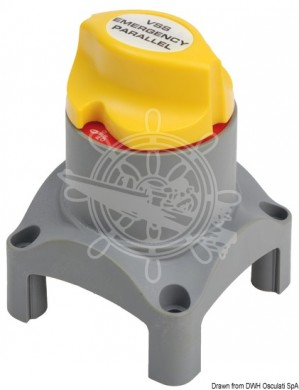 Ключ маса за два акумулатора 12/24V