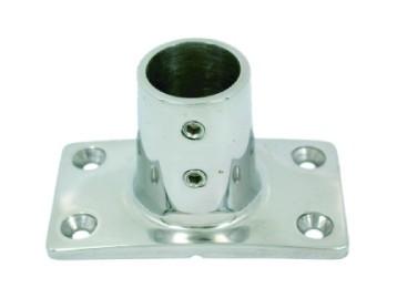Основа за релинг правоъгълна 90° f22-25mm inox