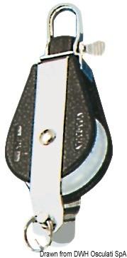 Блок единичен с шарнир и пръстен