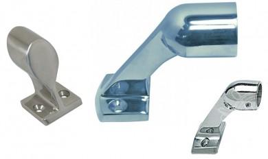 Накрайник за релинг 60° ф22-25мм inox