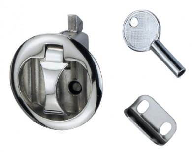 Заключалка за капак inox вградена с ключ 61мм