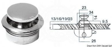 Бутон за брава 19мм месинг с код 38.180.02