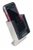 Поставка за телефон 48x80mm inox с пета