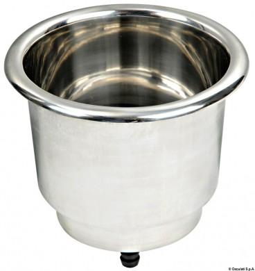 Поставка за чаша вградена inox ф89мм
