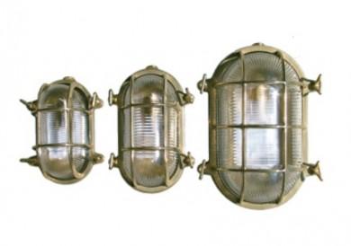 Лампа овална месинг