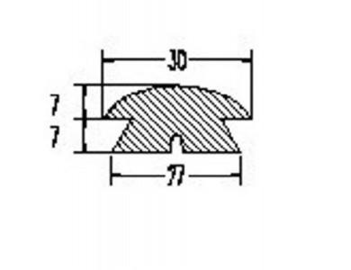 Буртик за лодка PVC 30х14мм