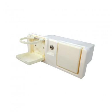 Кутия с ключ и две сгъваеми поставки за чаша
