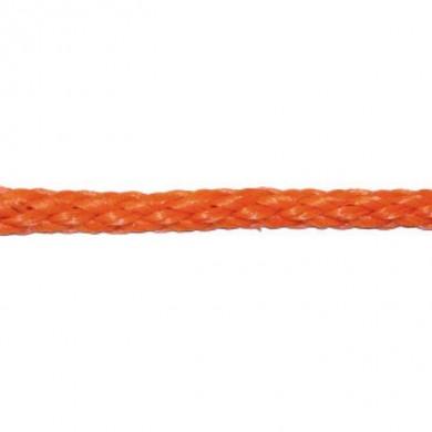 Въже плетено ПП оранжево/бяло ф6-12мм